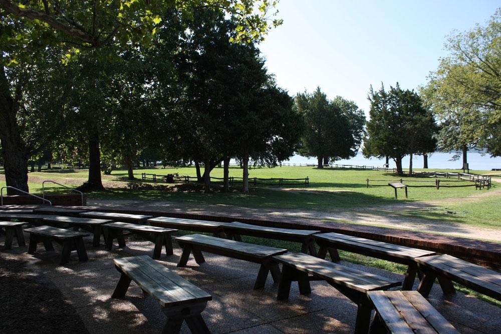 Historic Jamestowne Jamestown VA Gathering Spot