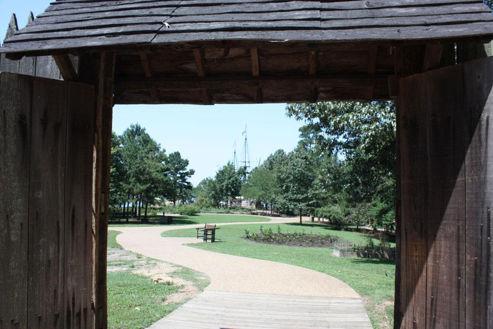 Jamestown Settlement Museum Jamestown VA Jamestown Fort View Toward Jamestown Ships