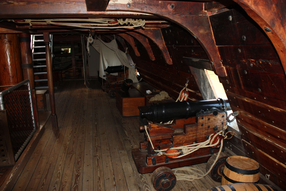 Jamestown Settlement Museum Jamestown VA Jamestown Ships Canon Below Deck