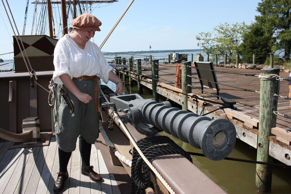 Jamestown Settlement Museum Jamestown VA Jamestown Ships Swivel Gun