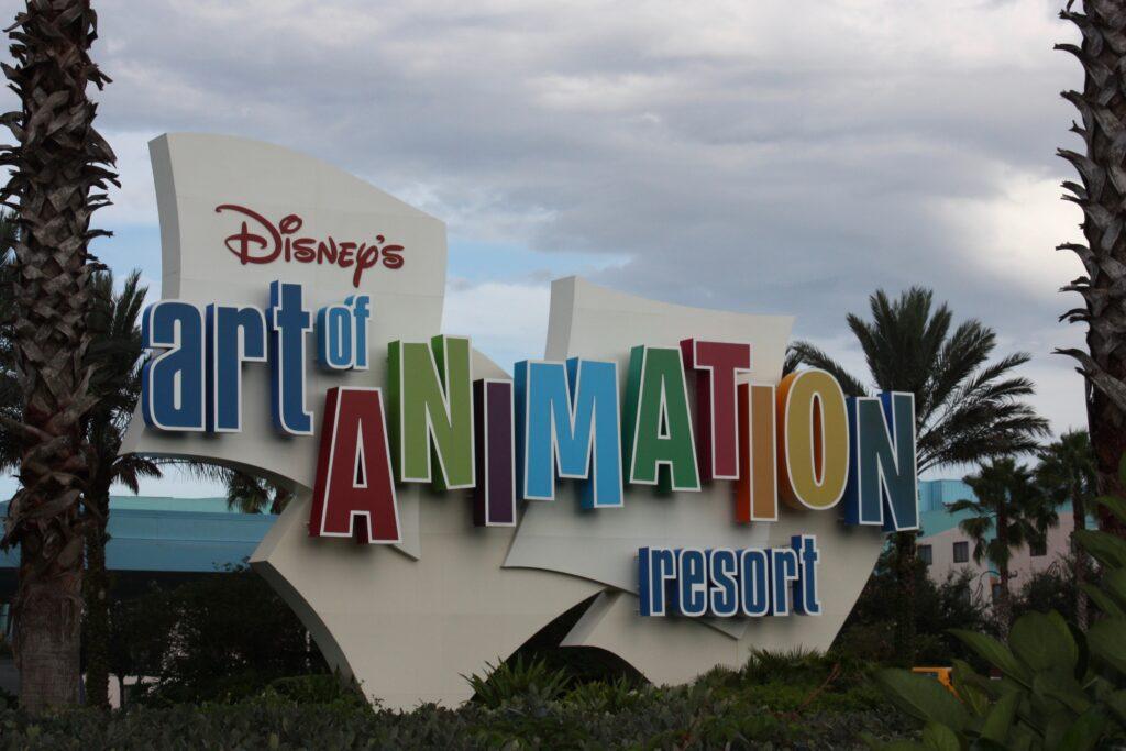 Disneys Art of Animation Resort Sign