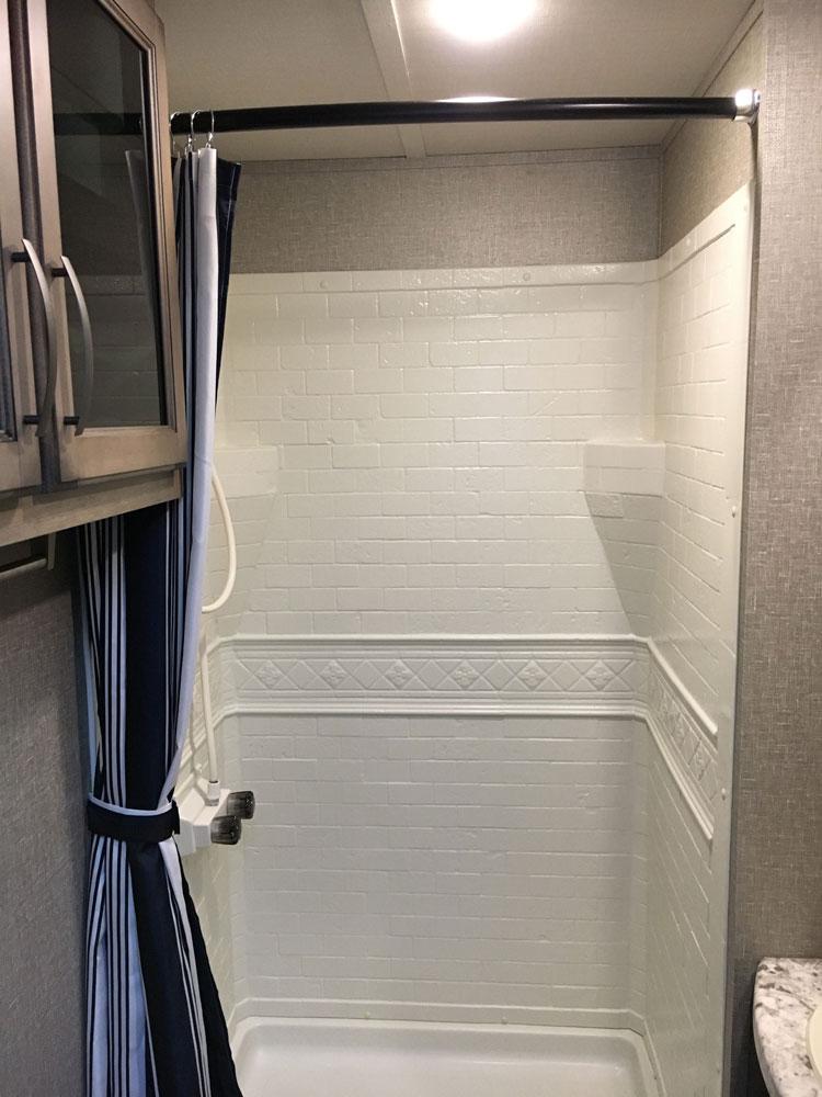 Shower in Grand Design Transcend 28MKS