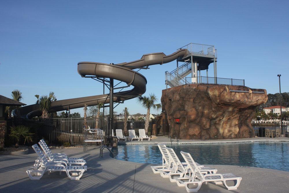 NMB North Myrtle Beach RV Resort Pool Slide
