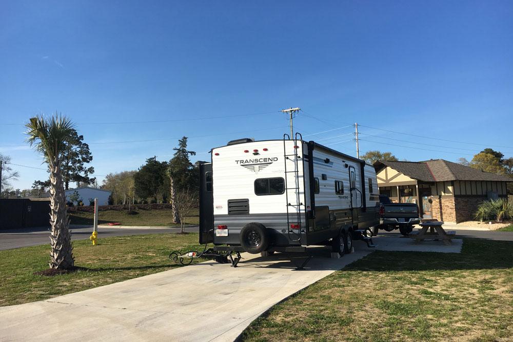NMB North Myrtle Beach RV Resort Pull Through Site