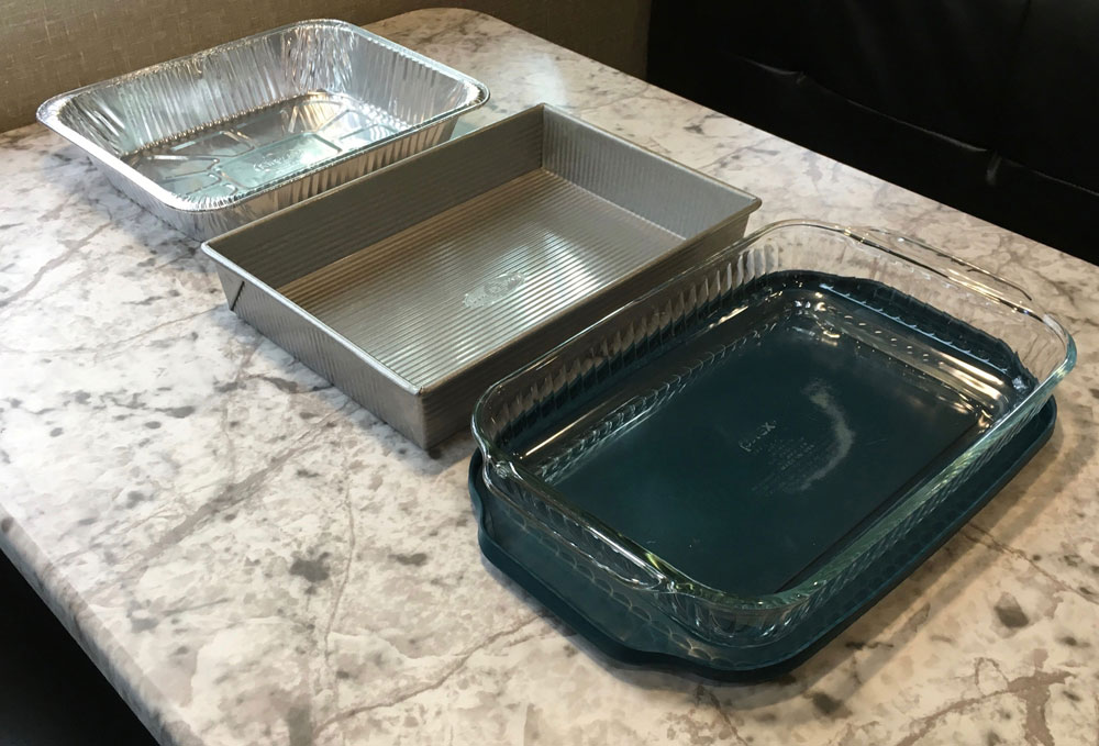 baking dishes pyrex glass with lid usa pan and disposable aluminum