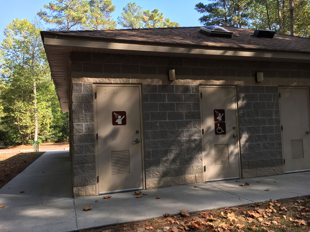 Chippokes State Park Campground Bath House Shower Entrances