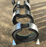 Pipe Hangers for Mounting Camper Sewer Hose Storage Tubes