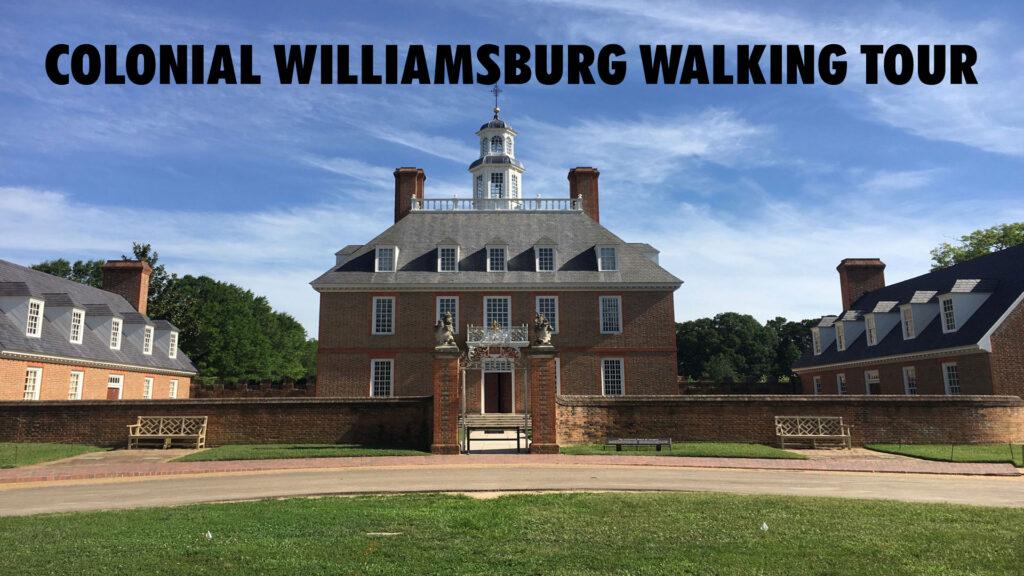 Colonial Williamsburg Walking Tour YouTube Video