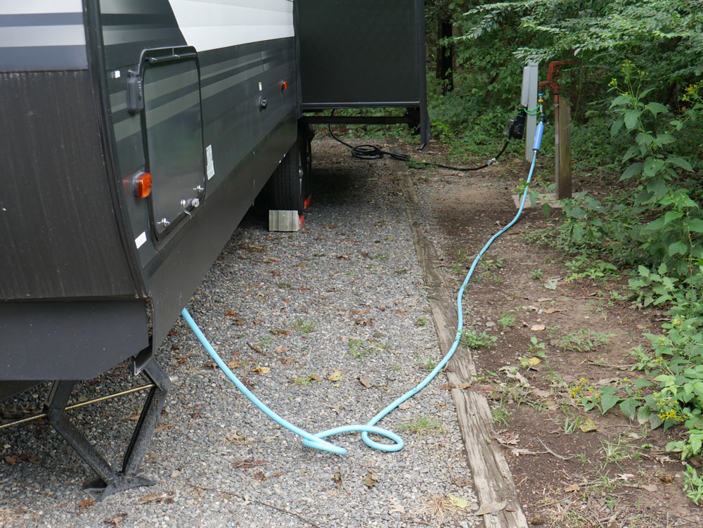 Belle Isle State Park Campground Back In Site Showing Utility Hookups