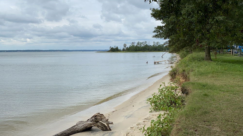 Beach at Belle Isle State Park