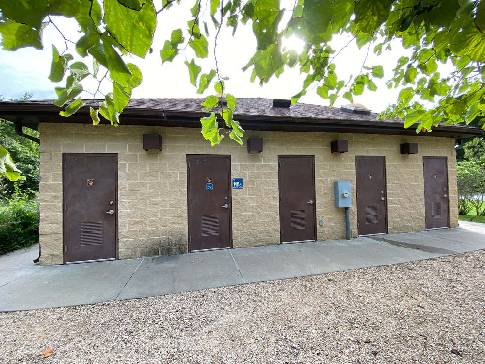 Belle Isle State Park Campground Bath House Shower Entrances
