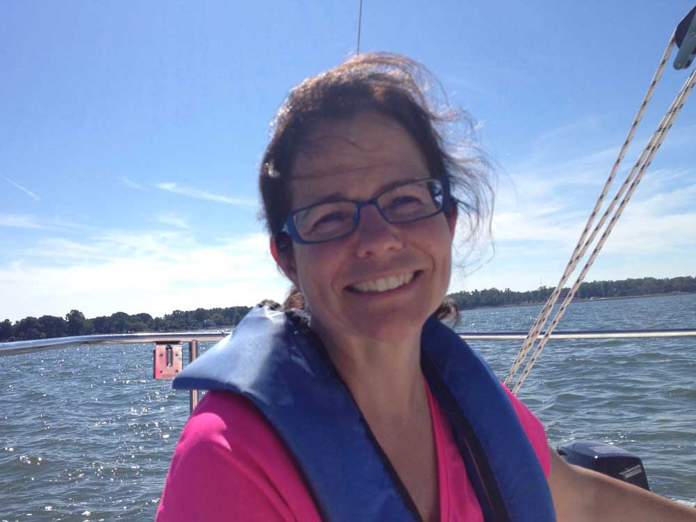 Judy Sailing on the York River