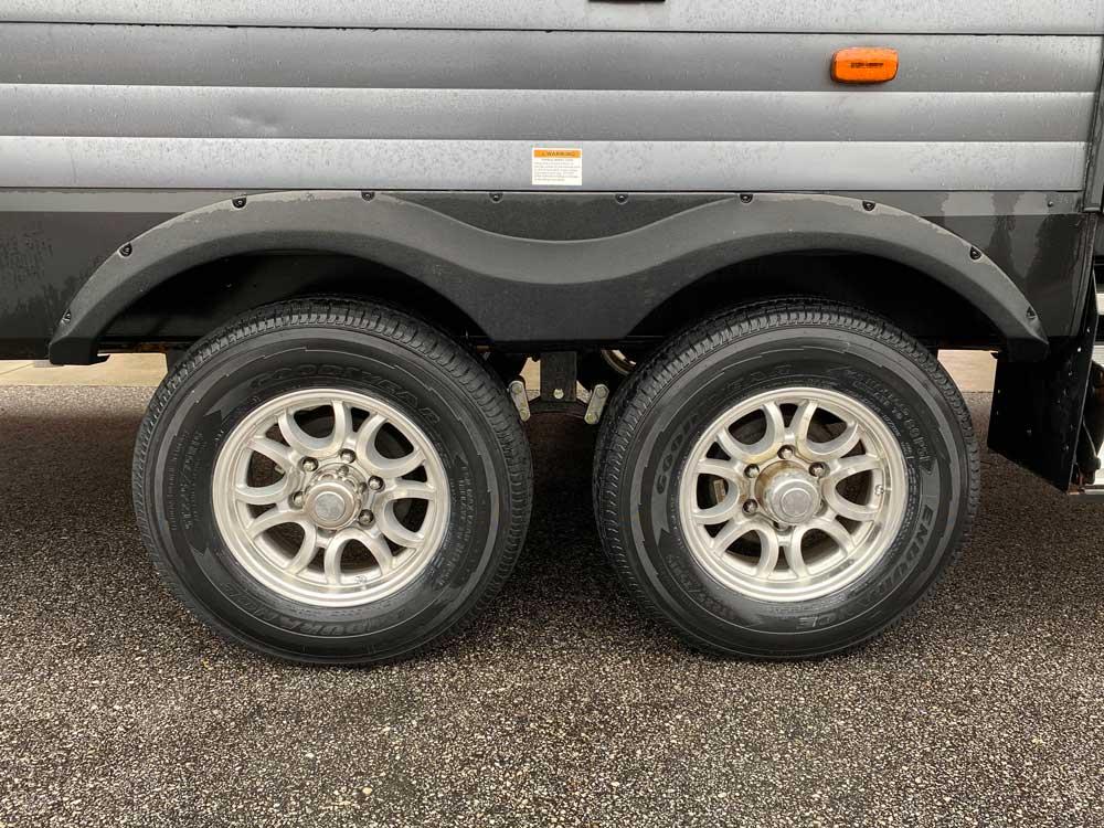 New Trailer Tires Goodyear Endurance on Transcend Travel Trailer
