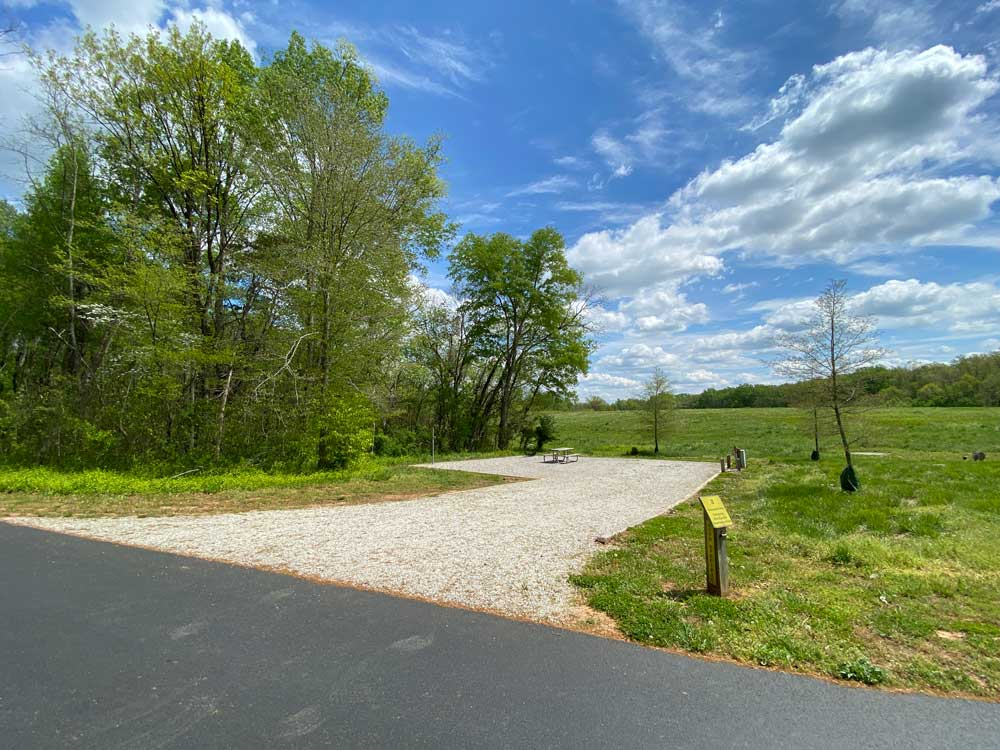 Powhatan State Park Campground Open Back In Campsite