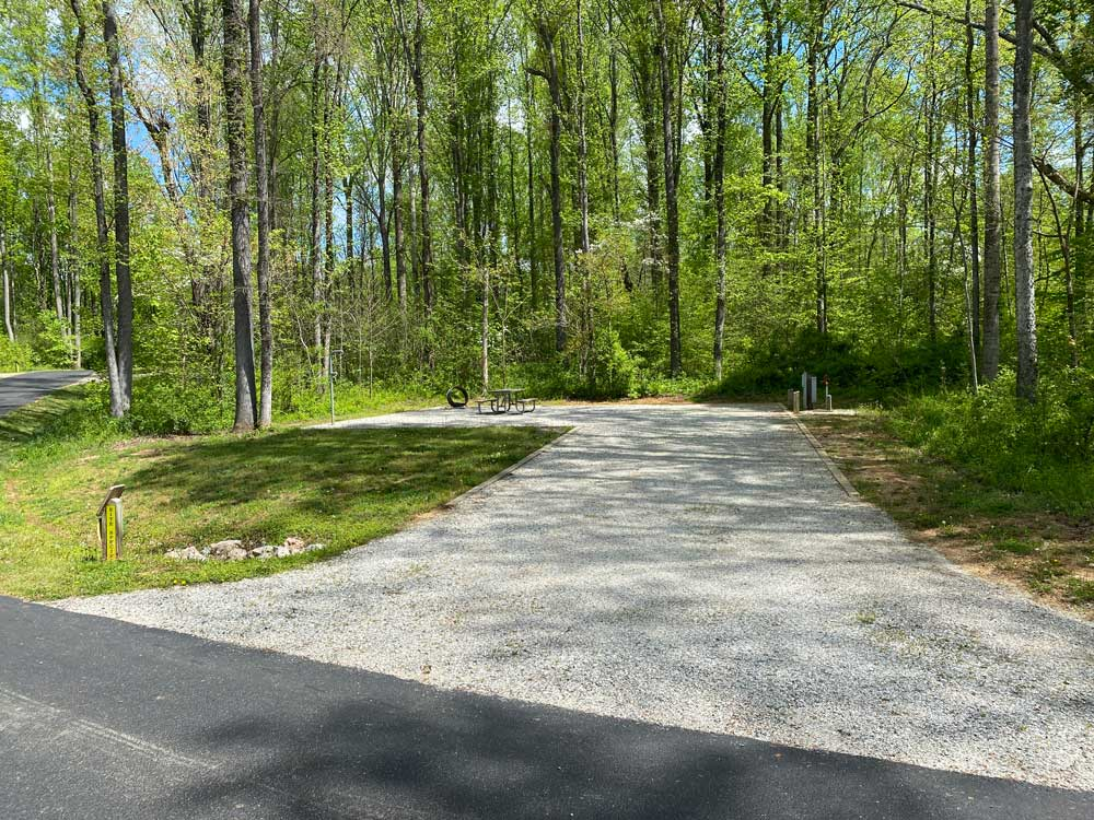 Powhatan State Park Campground Back In Campsite