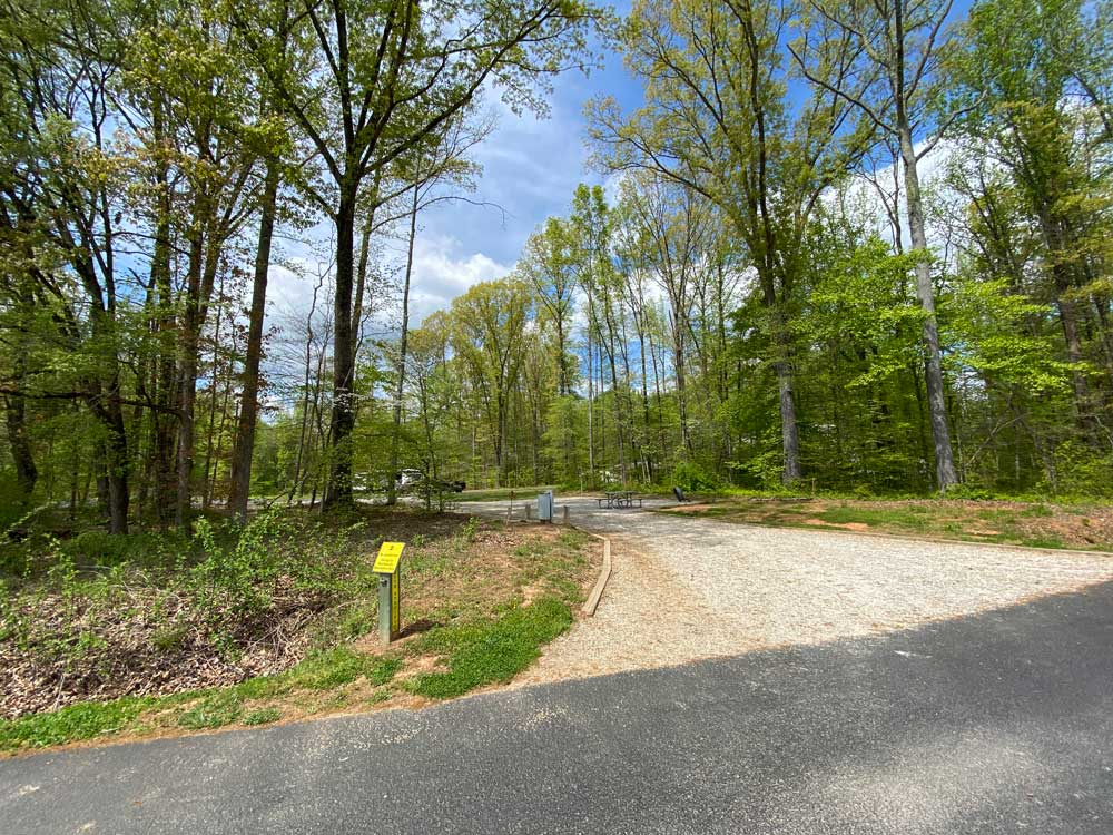 Powhatan State Park Campground Pull Through Campsite