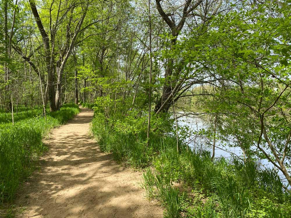 Powhatan State Park River Trail Along the James River