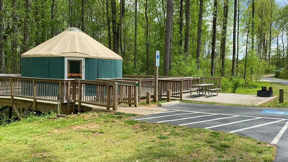 Powhatan State Park Campground Yurt