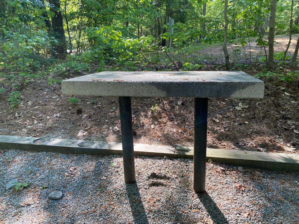 North Bend Campground Concrete Table