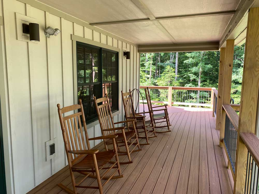 Porch on Pocahontas Cabin