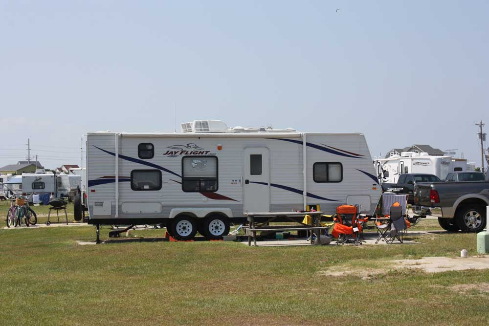 Campsite at Camp Hatteras in the Outer Banks OBX