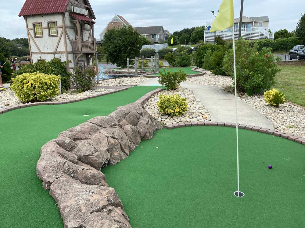 Putt-putt course in the Outer Banks of North Carolina OBX miniature golf