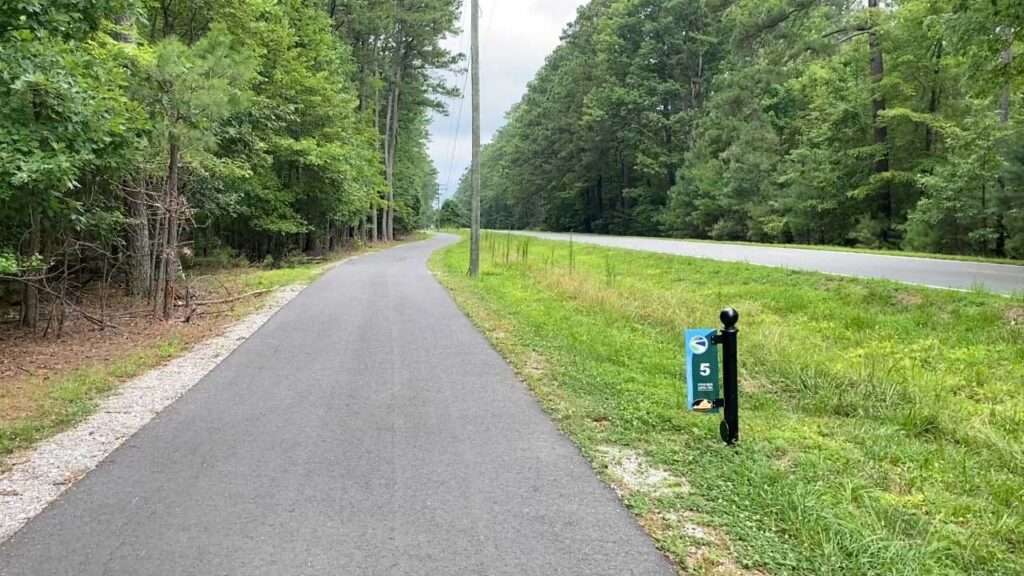 Virginia Capital Trail Cycling Along Route 5