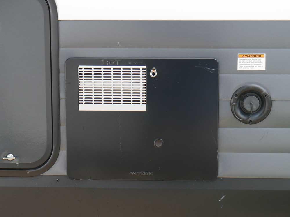 RV water heater door