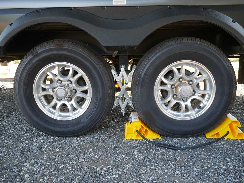Super Grip Chocks for stabilizing your travel trailer