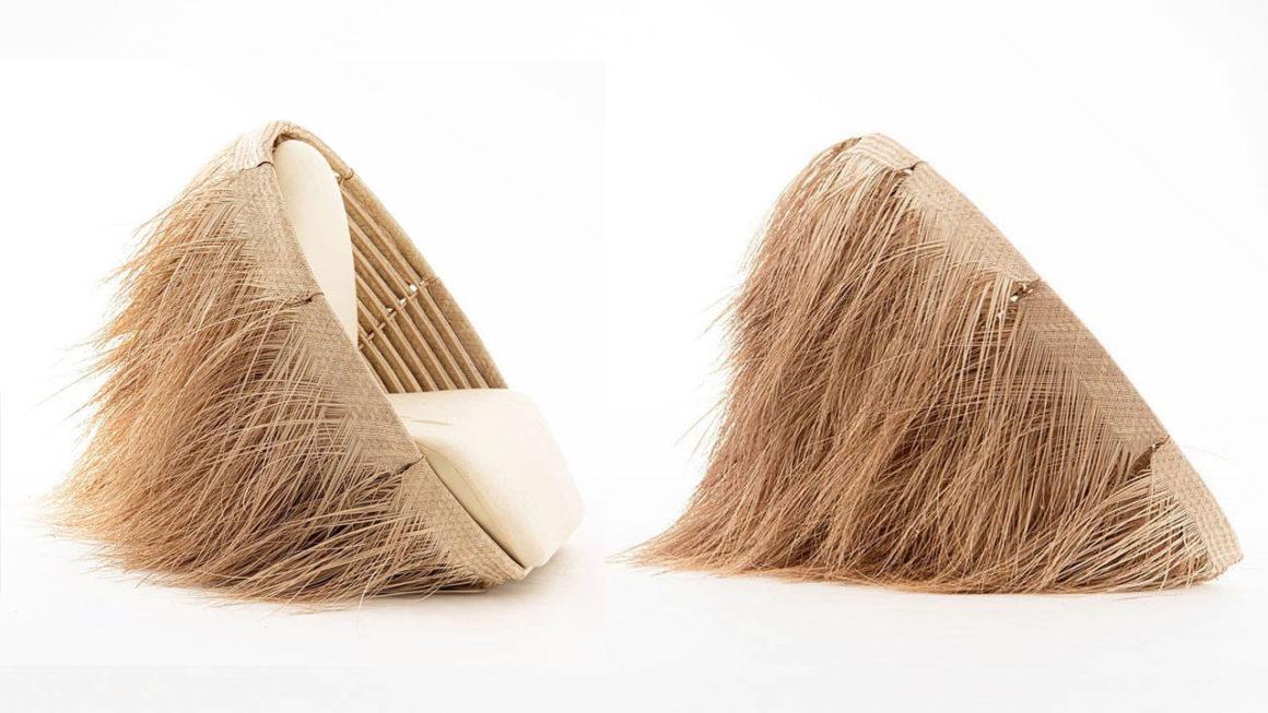 Poltronas de palha trançada são insipiradas em casas do deserto