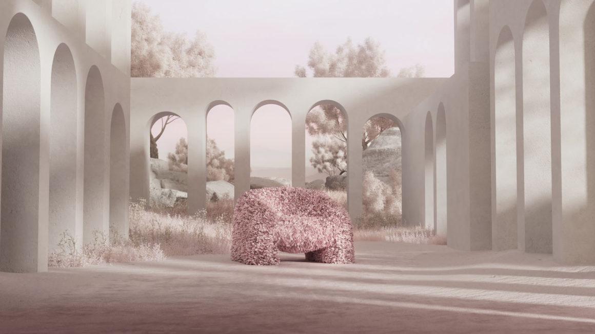Sentar em flores:  Moooi lança poltrona Hortensia, com mais de 30 mil pétalas