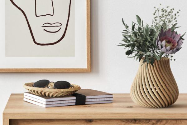Impressão 3D em madeira: economia circular no design