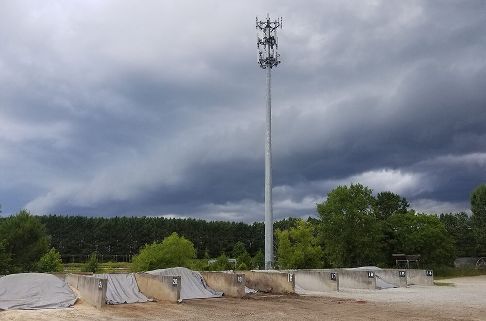 Storm rolling in - Tarped Bins