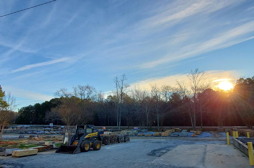 Sunrise across VS yard