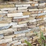Alex Stone_Stoney Brook entrance_Hunters Blend natural veneer upclose