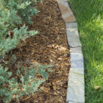 Snapped Edge Strip Rubble as stone bed edger