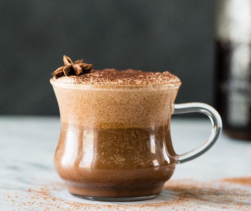 Keto Chocolate Vanilla Breakfast Latte