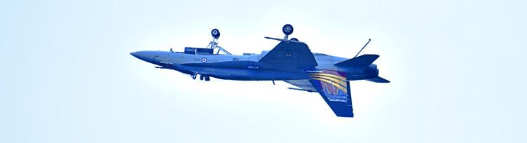 An aircraft in an inverted flight