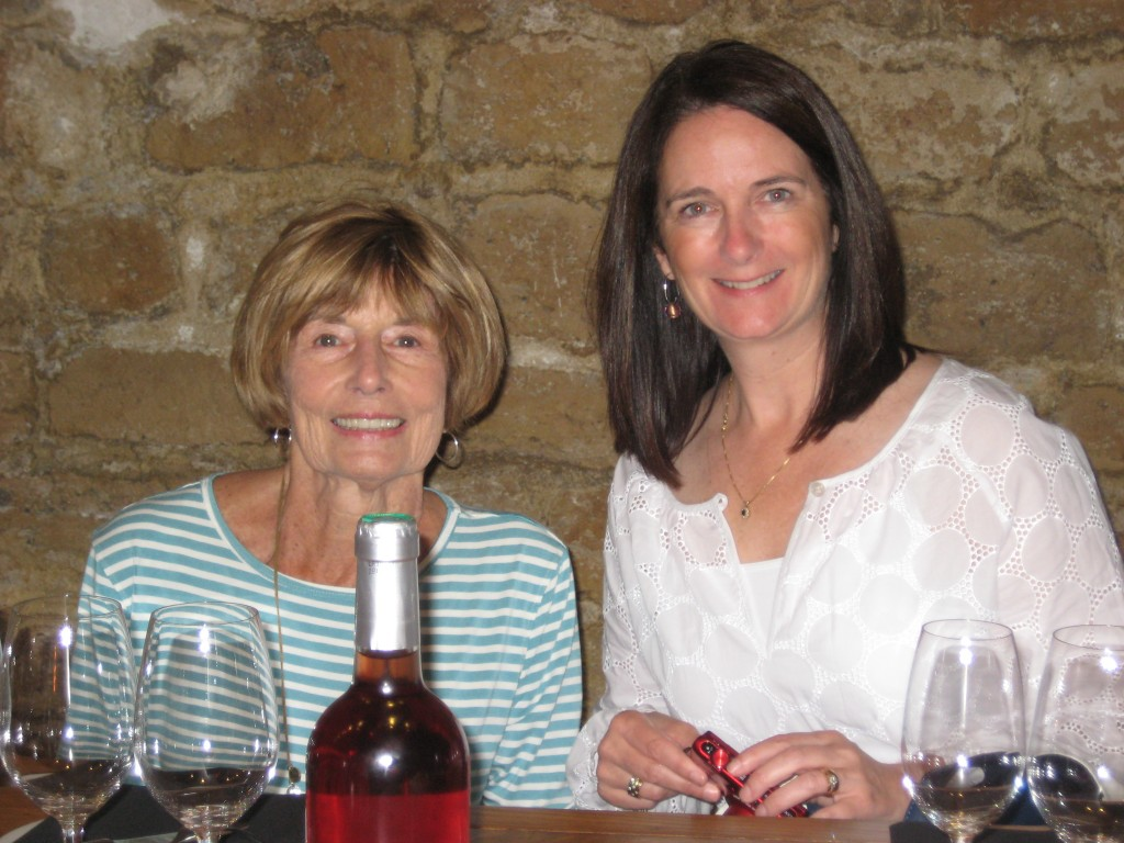 My mother-in-law and me about to begin our tasting