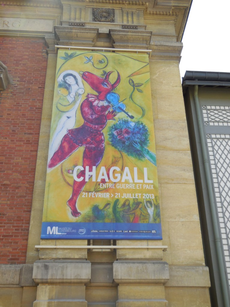 chagall exhibit sign