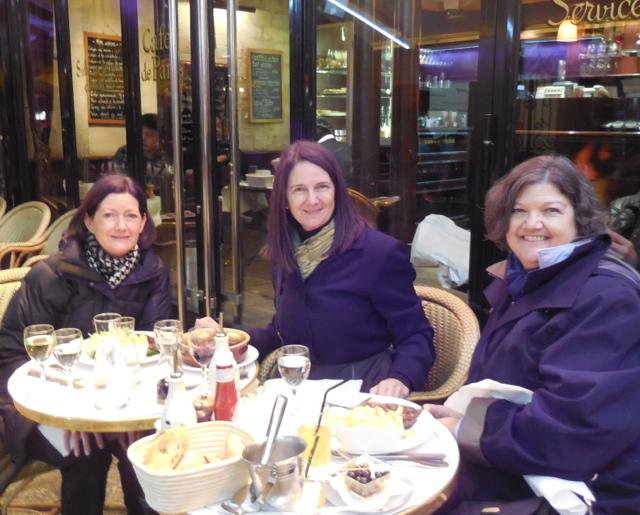 Patty, Me, Susan at Café de Paris - favorite Gal Pal hangout to people watch