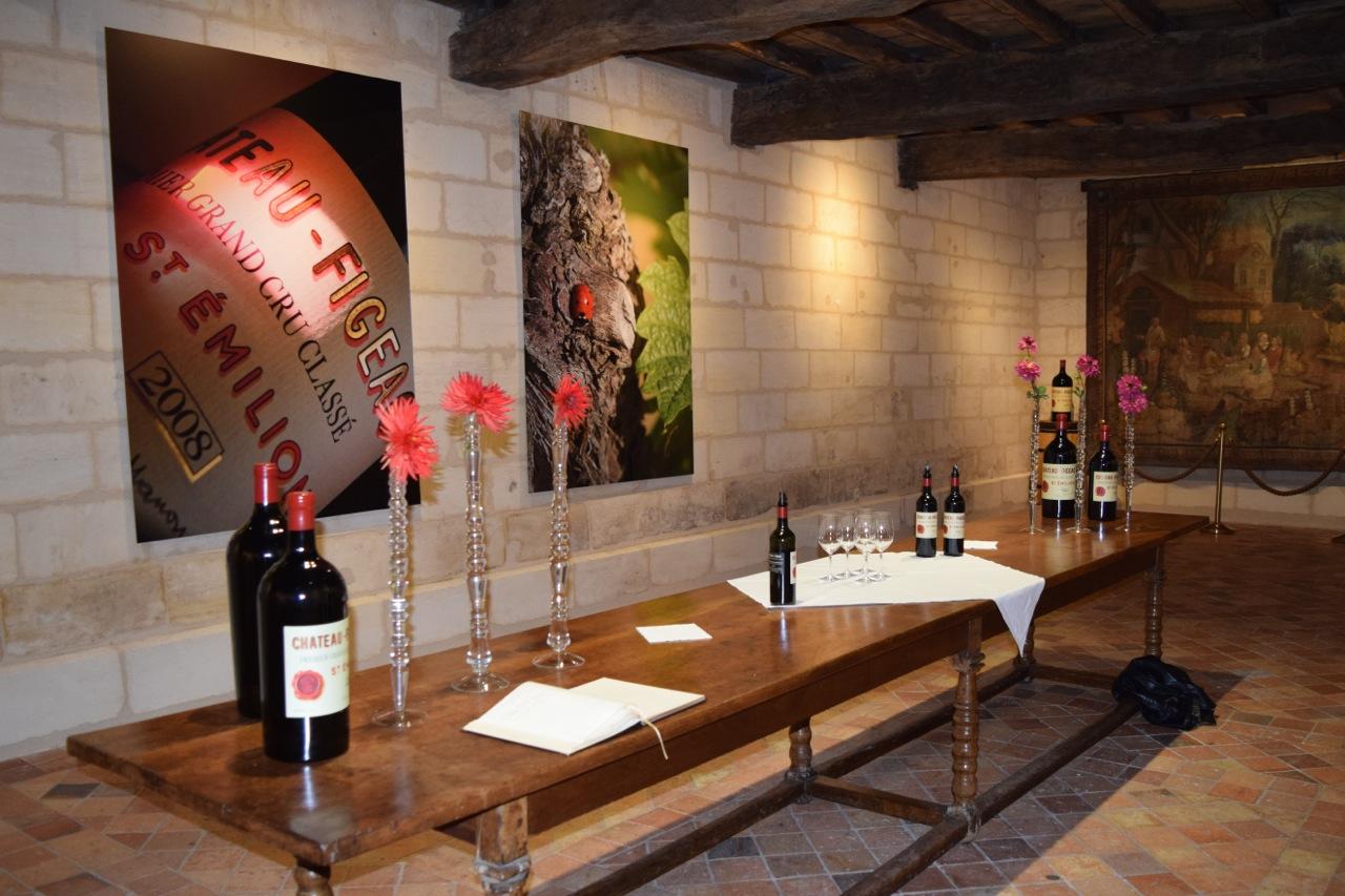 Charming wine tasting room at Figeac