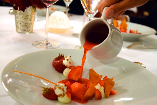 First dessert, a fruity sensation