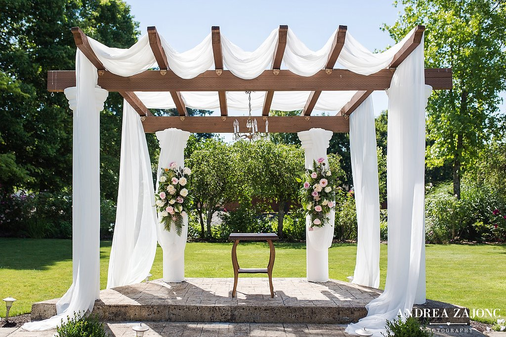 The Water Oasis arbor.