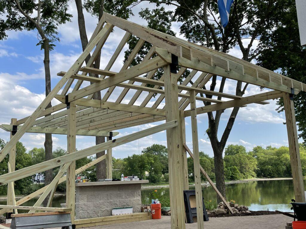Grays Mill Biergarten progress