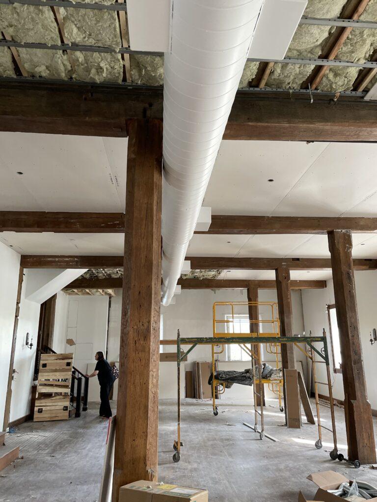 Gray's mill estate ballroom construction