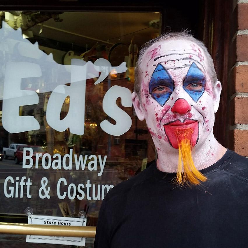 Creepy Clown Face Painting