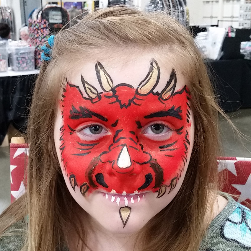 Dragon Face Painting