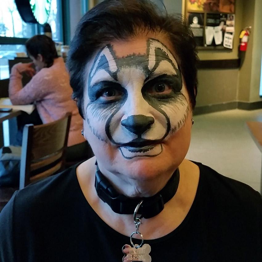 Husky Face Painting