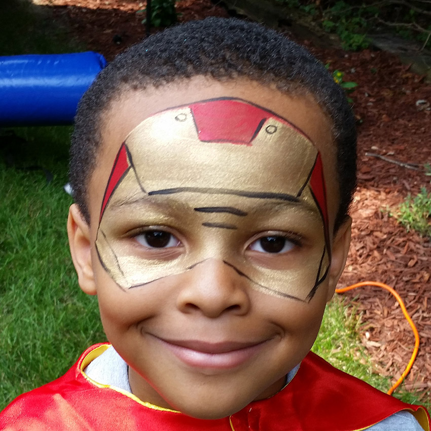 Iron Man Face Painting
